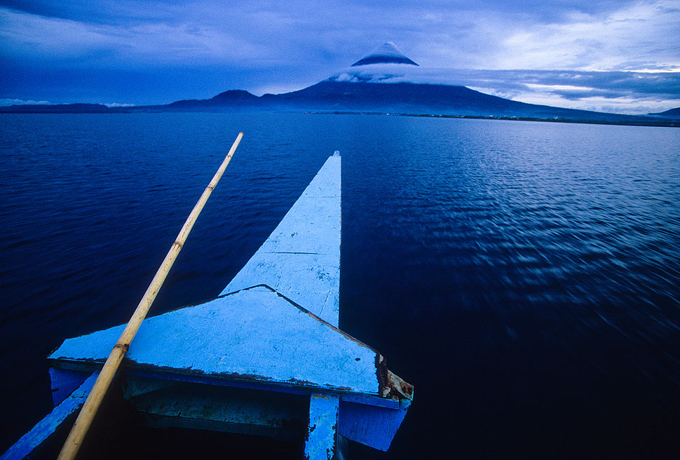 The Mount Mayon Volcano in Bicol at Sunset