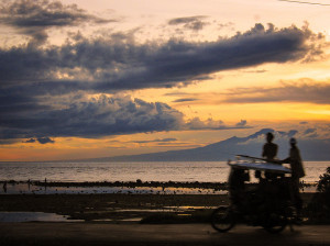 Beach Sunset on Siquijor looking towards Negros Island