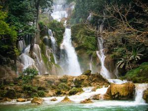 The Kwang Xi Waterfall near Luang Prabang, Laos