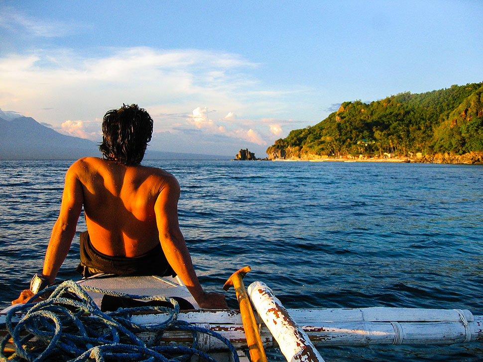 Sunset dive trip at Apo Island near Dumaguete