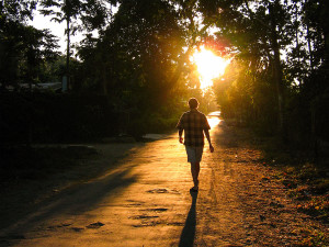 Taking an afternoon walk in Dumaguete at Sunset