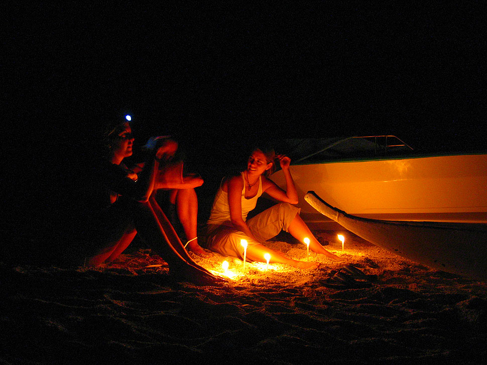 Beach Night at Apo Island near Dumaguete