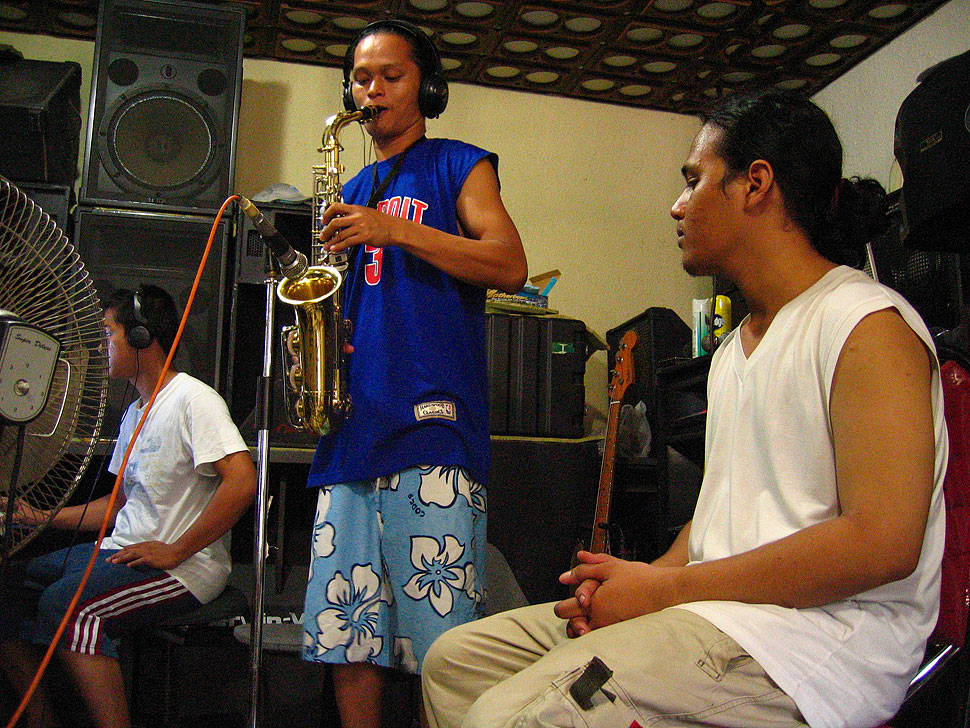 Dumaguete Band Frying Nemo in the Recording Studio