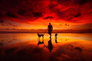 Bali Sunset at Kuta Beach