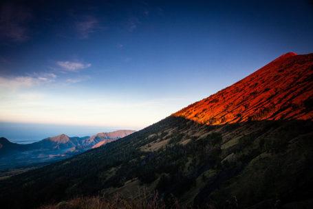 Mount Rinjani at Sunset in Lombok