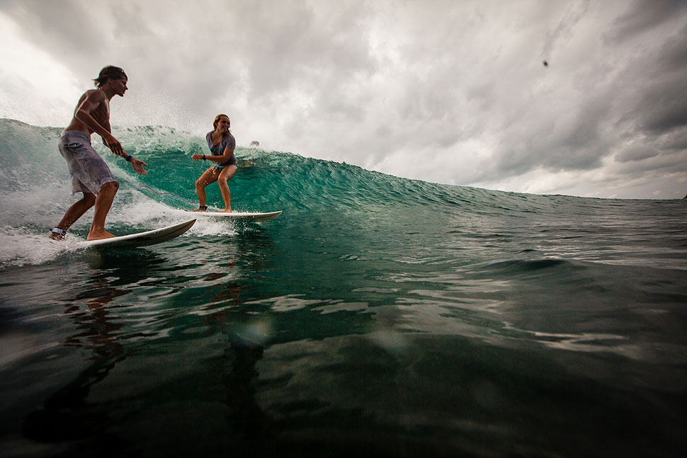 Cloudy Day, Perfect Waves in Bali
