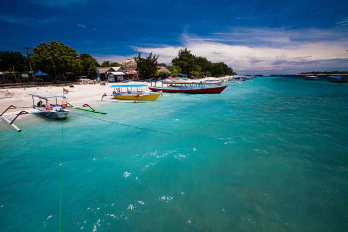 Beautiful White Sand Beach on Gili Trawanan in Lombok