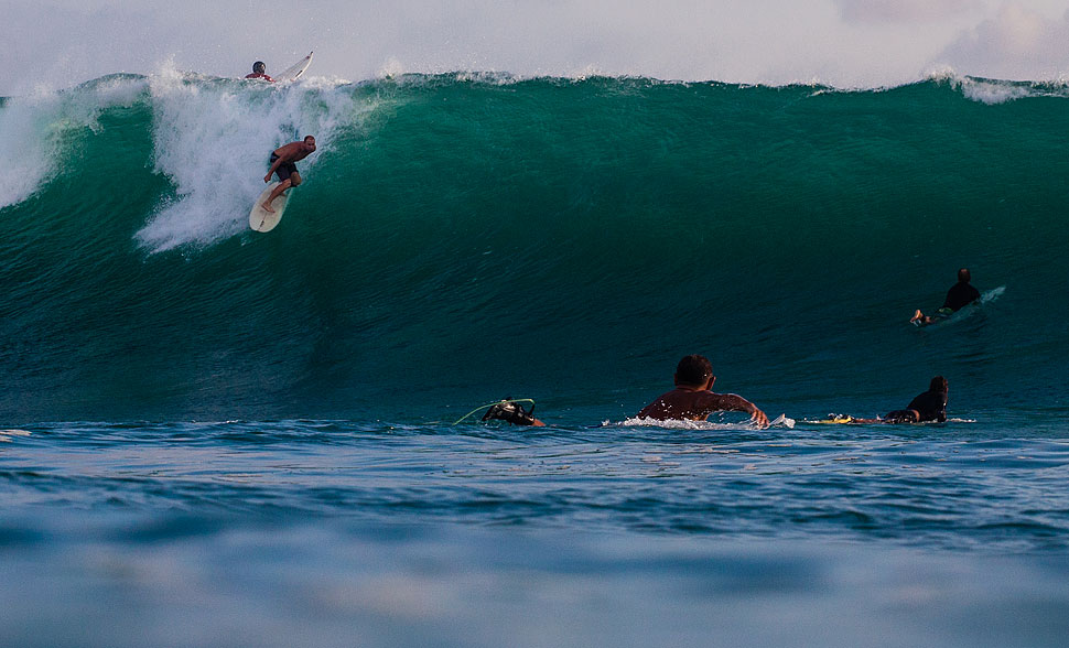Sunset Surf Session at Uluwatu's Outside Corner in Bali