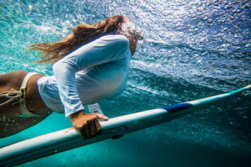 Surfer Girl Underwater Photo in Bali