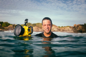 Surf photographer portrait in Sri Lanka