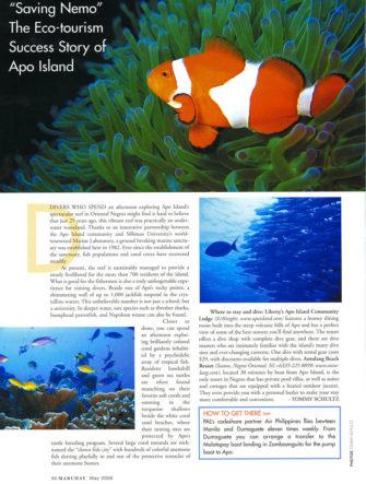 'Saving Nemo' - The Apo Island Ecotourism Success Story | Philippine Airlines | Mabuhay Magazine
