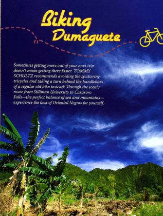 Biking Dumaugete | Philippine Airlines | Mabuhay Magazine | Travel Photos