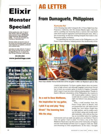 Building Dave Matthews' 12-String Acoustic Guitar in the Philippines | Acoustic Guitar Magazine | Feature Article and Photos