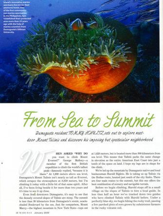 'Sea to Summit' | Dumaguete Destination Travel Feature | Philippine Airlines | Mabuhay Magazine