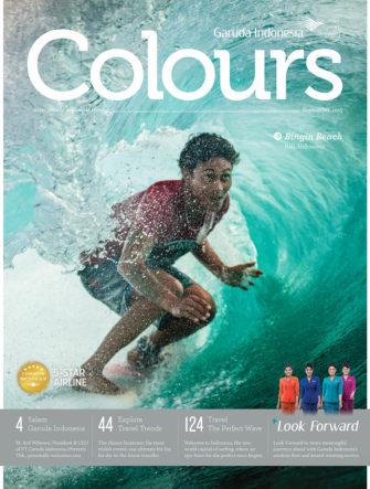 Bali Surfing - Garut Widiarta Cover | Colours Magazine | Garuda