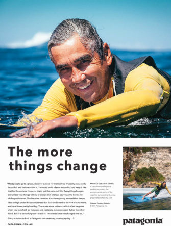 Gerry Lopez Ad | Patagonia | Appearing in Surf Magazines
