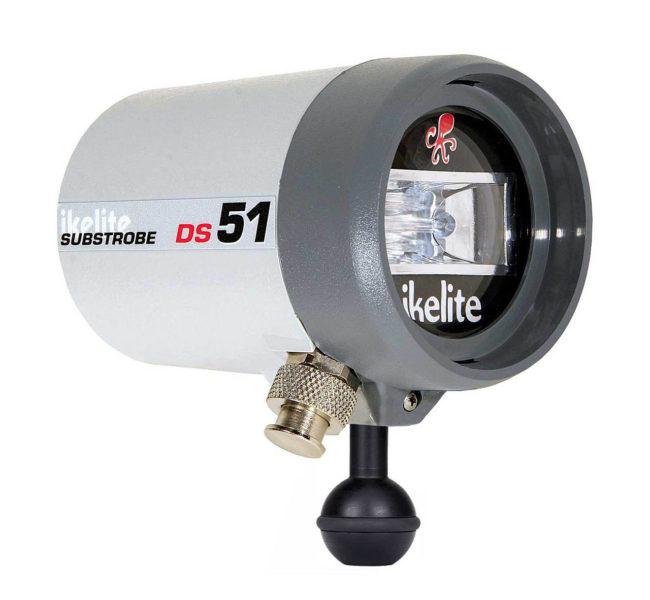 Ikelite Underwater Strobe / Flash Head DS51 with Flex Arm & Sync