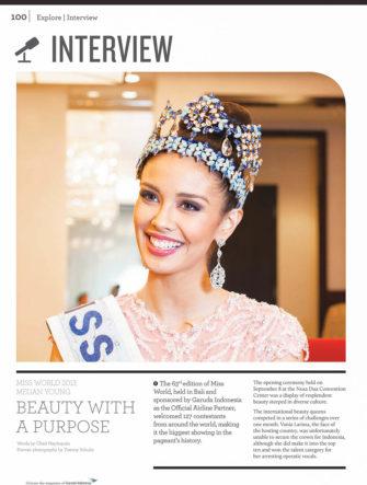 Miss World 2013 - Megan Young | Portraits | Garuda Indonesia | Colours Magazine