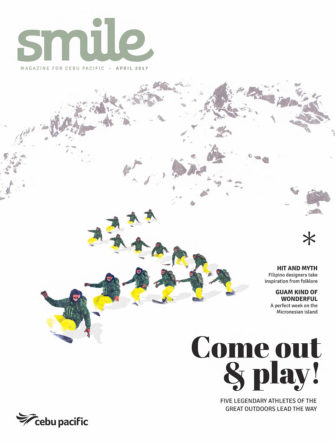 Legends of the Outdoors - Taro Tamai Snowboarding | Cebu Pacific Airlines | Smile Magazine Cover