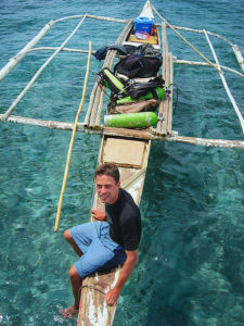 In the field on a marine biology survey with U.S. Peace Corps in the Philippines / Photo: Analie Candido