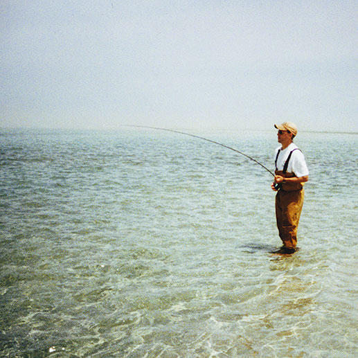 Fly fishing the salt flats of Monomoy in Cape Cod