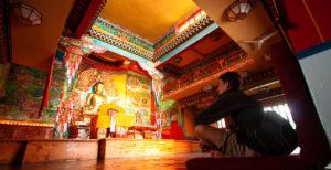 The Dalai Lama's Norbulinka Tibetan Temple in Dharamsala