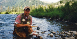Fly fishing the Rocky Mountains in Montana for wild rainbow trout