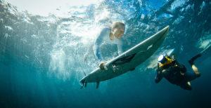 Tommy Schultz underwater video shoot with surfer girls