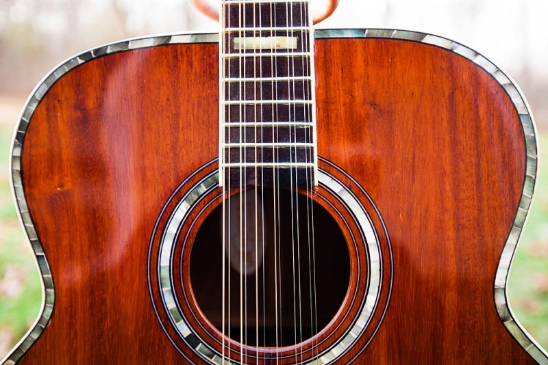 12 String Acoustic Guitar Close-up