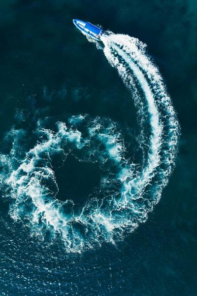 A Swirl of Blue