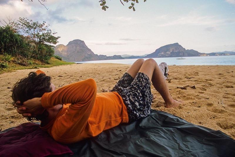 Relaxing on the Palawan Beach