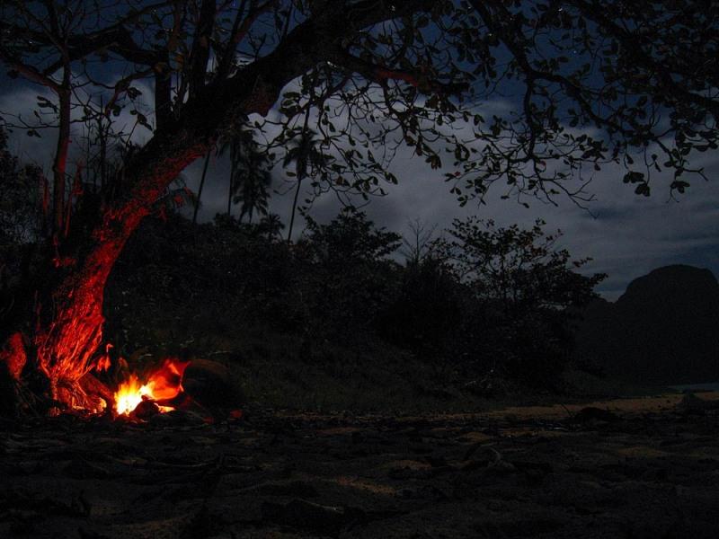 Beach Campfire in Palawan