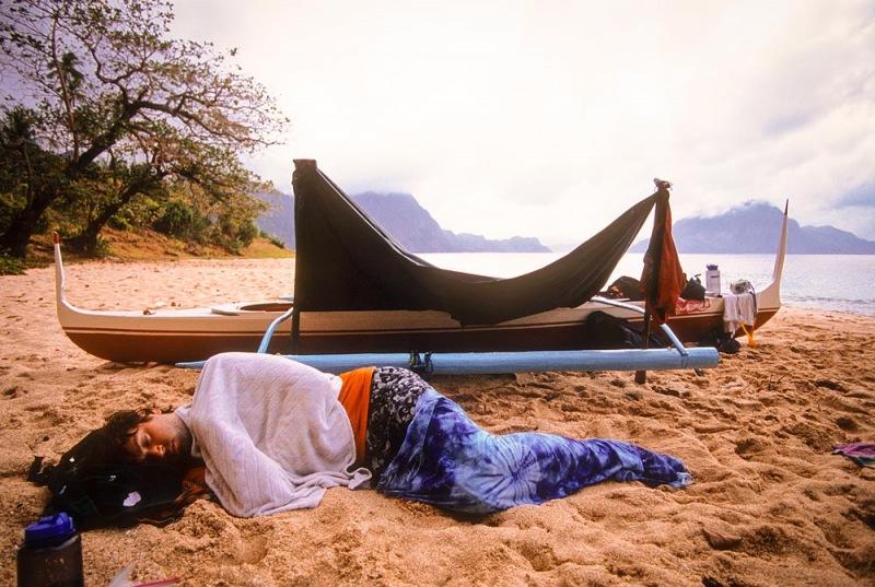 Sleeping like a Rock on the Beach