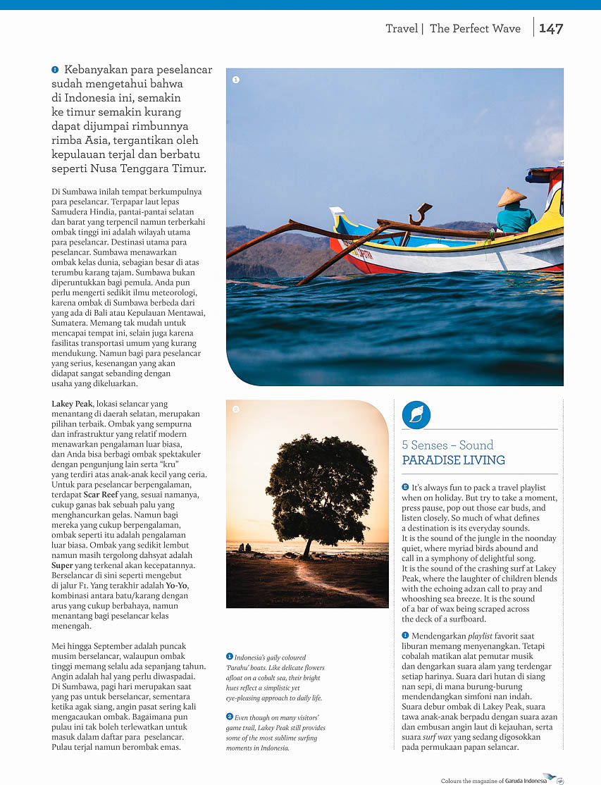 Garuda Indonesia Colours Magazine - The Perfect Wave - Surfing Indonesia