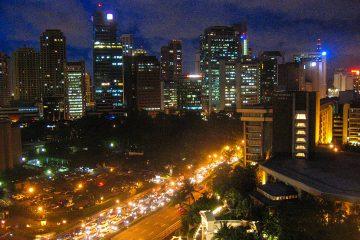 Manila Skyline in Makati City