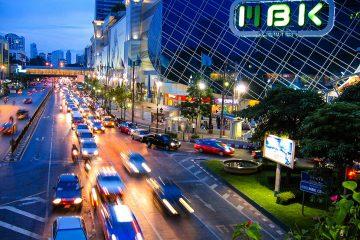 Bangkok's Busy City Streets at Night
