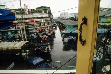 Bangkok Street View from a Backpacker Guest House