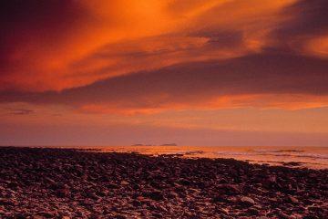 Sunset at the Koh Lanta Island Beach