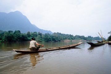 Mekong River Daily Life near Nong Khiew Villgage in Laos