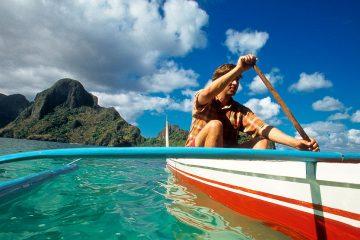Sea Kayaking El Nido in a Traditional Bangka Boat