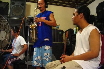 Dumaguete Band Frying Nemo in the Recording Studio