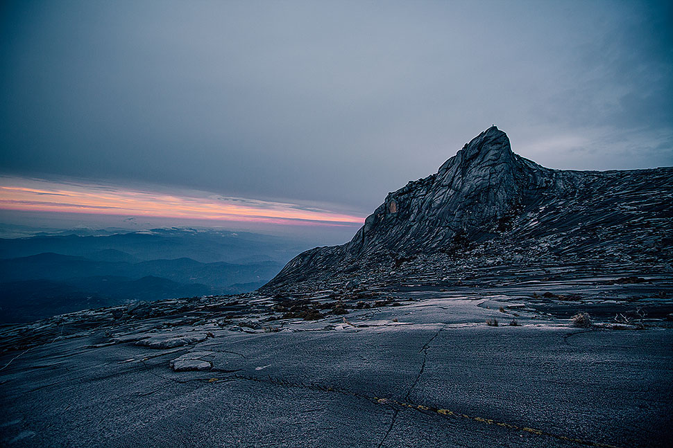 We were up at 3 a.m. to make the sunrise on Mount Kinabalu