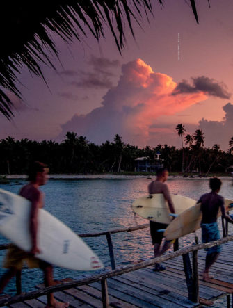 The Maturation of Cloud 9 - Siargao Surfing Feature | The Surfer's Journal | Double-Page Spread - Surf Photo of the Pier