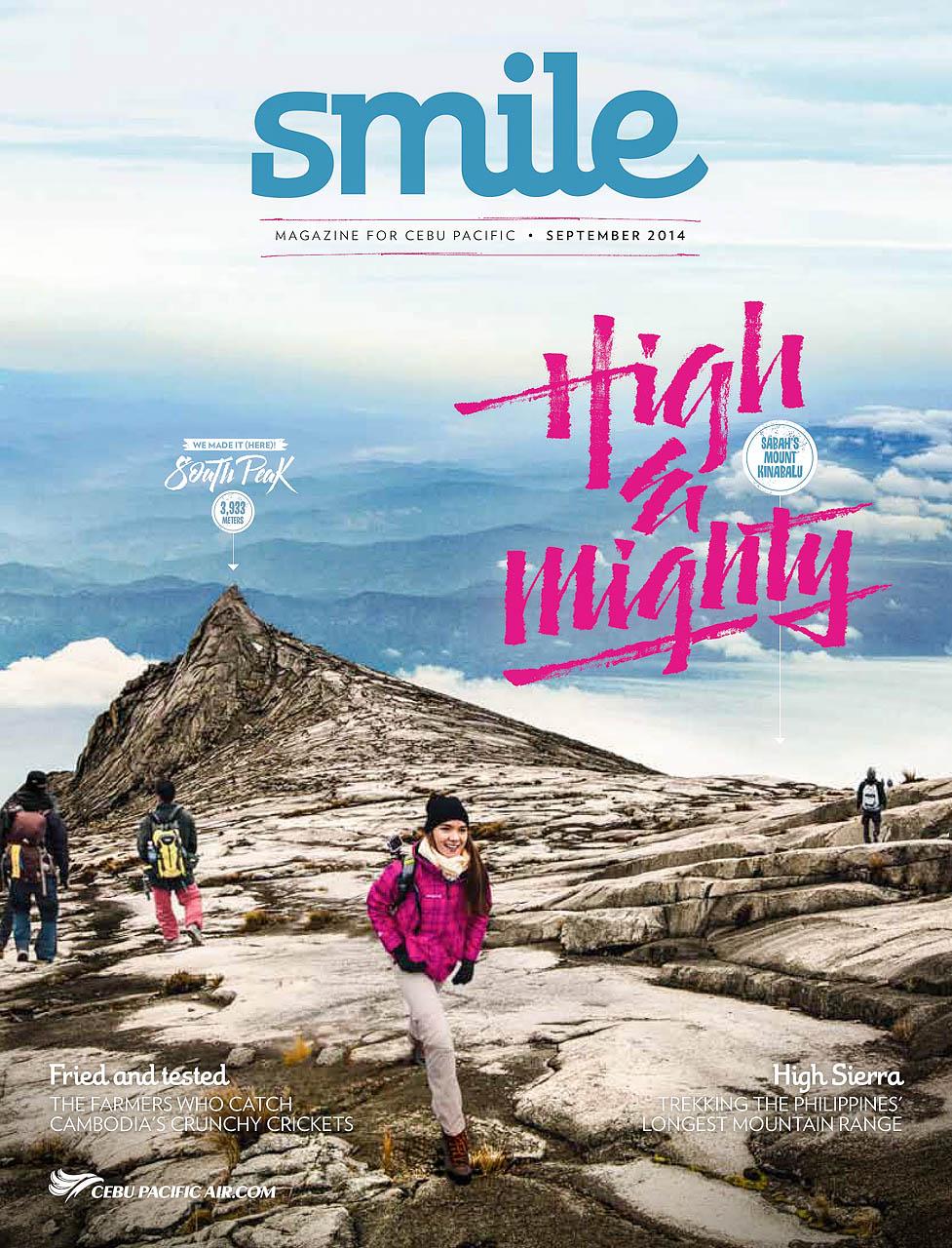 Climbing Mount Kinabalu Cebu Pacific Airlines Smile Magazine Cover