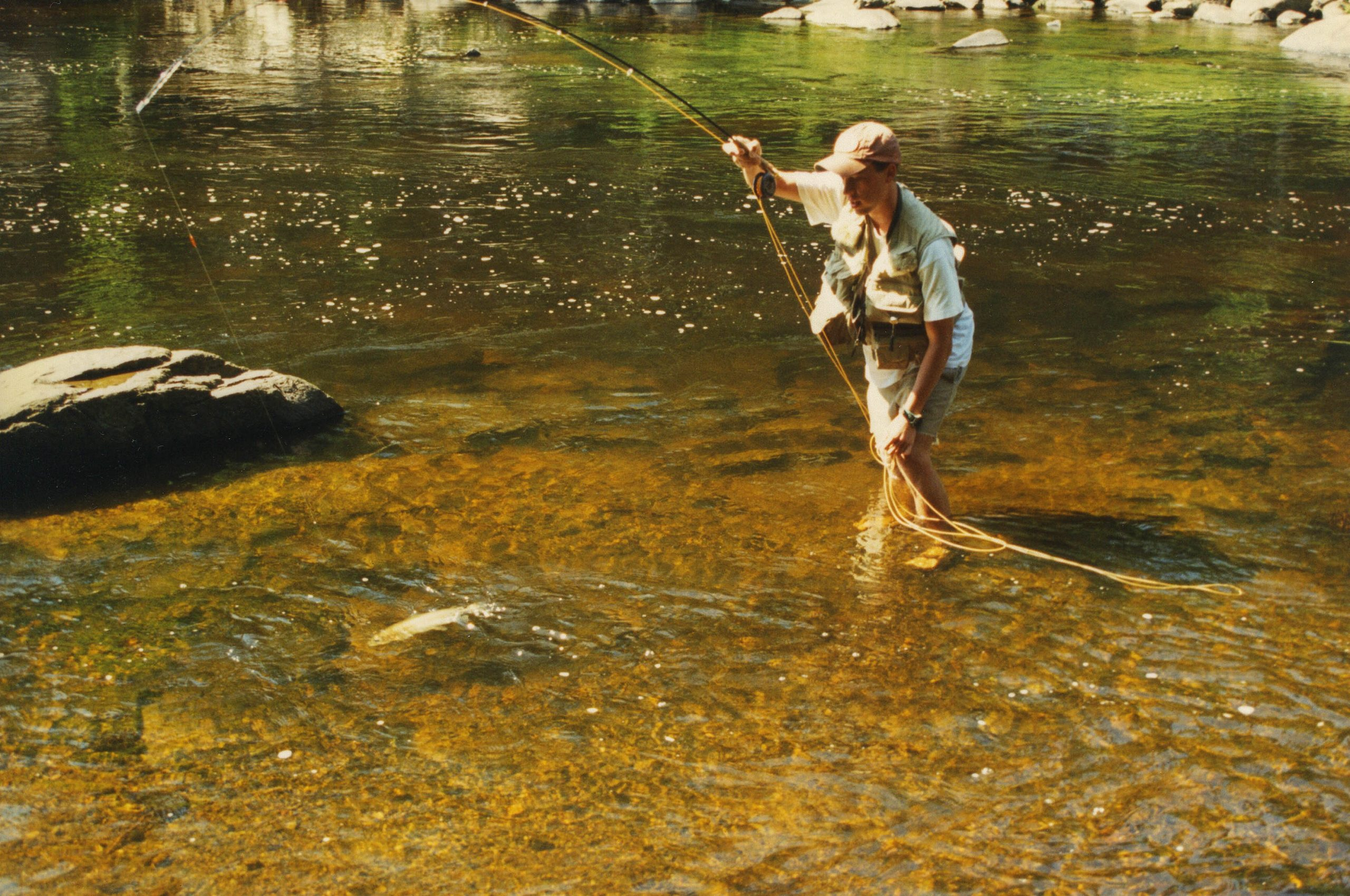 Learning to fly fish the Ausable River in the Adirondack Mountains of New York