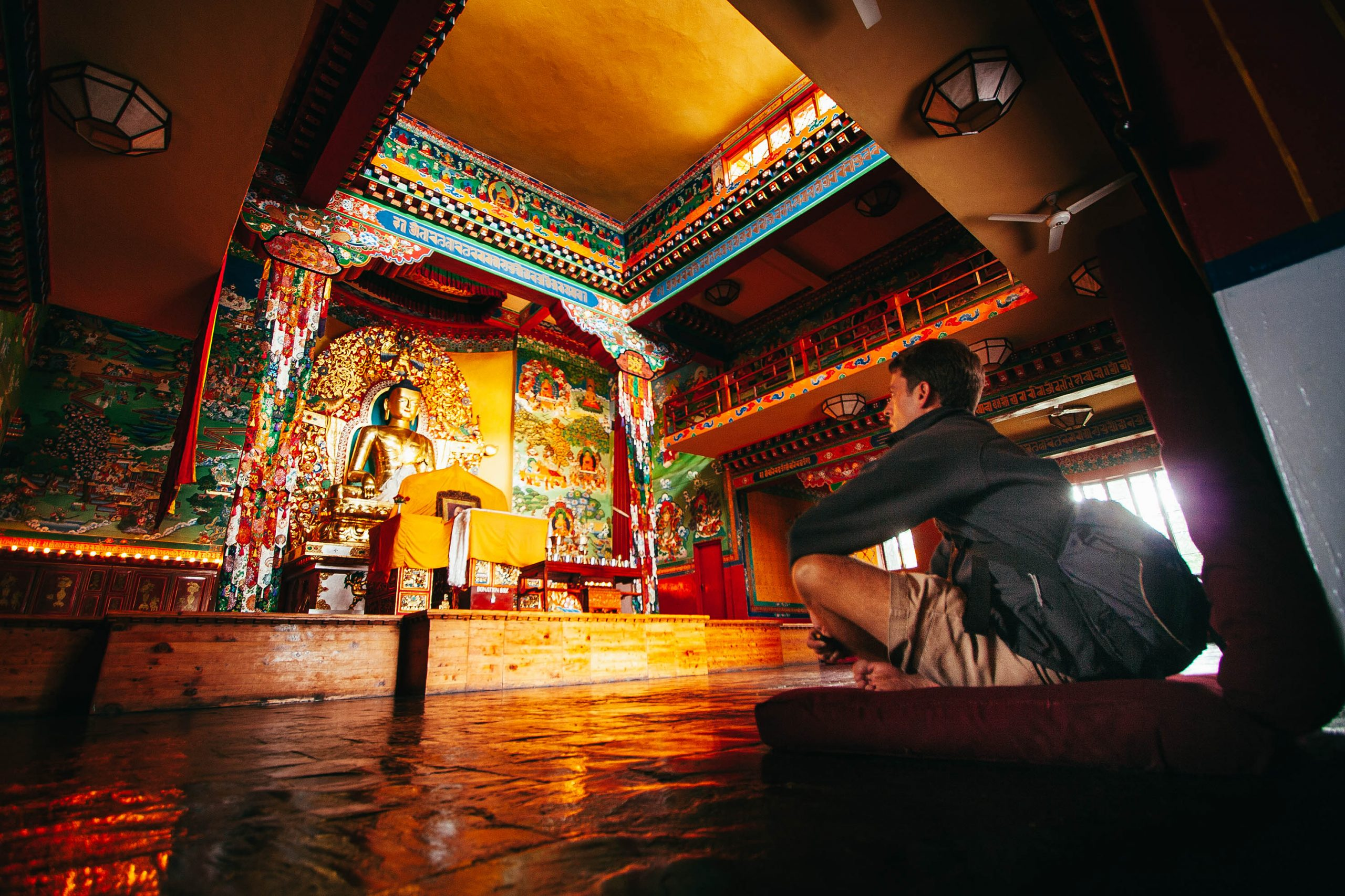 At the Norbulingka Tibetan Buddhist temple in Dharamsala, India