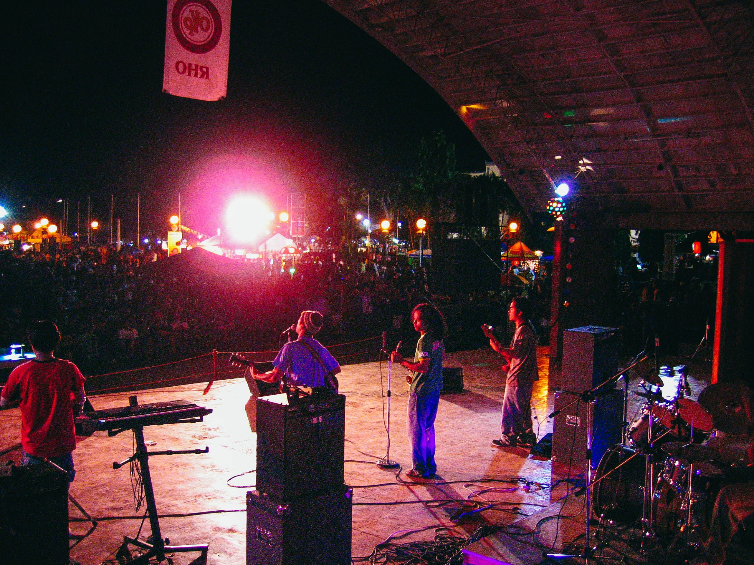 The big gig - Our band played the main stage at the Dumaguete Buglasan Festival | Photo by Katia Bezerra-Clark