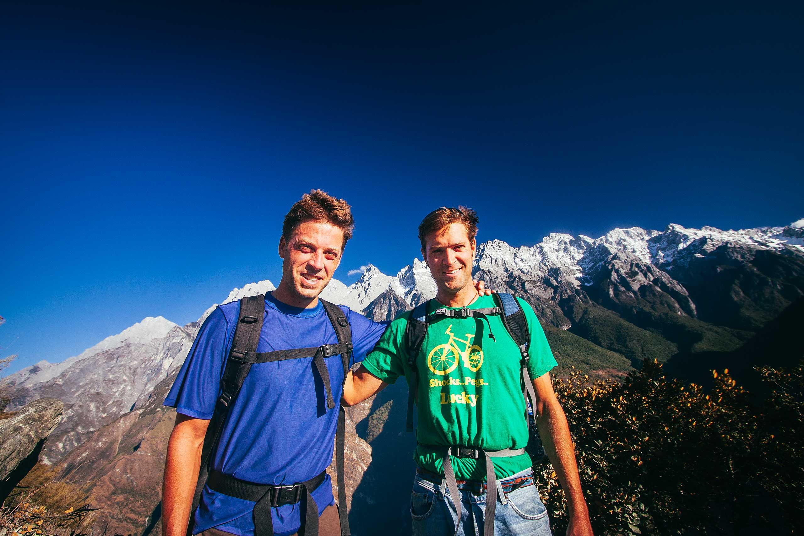 Schultz Brothers at the Tiger Leaping Gorge in Yunnan, China